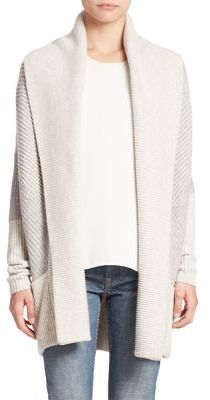 Vince Colorblock Ribbed Cardigan $425 thestylecure.com