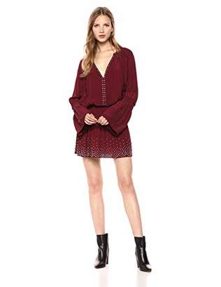 Ramy Brook Women's Izzie Long Sleeve Studded Dress