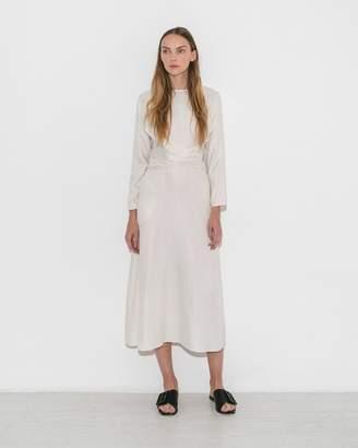 Le Merceau White Gathered Waist Dress