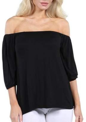 24/7 Comfort Apparel Women's Sweetheart Off Shoulder Tunic Top