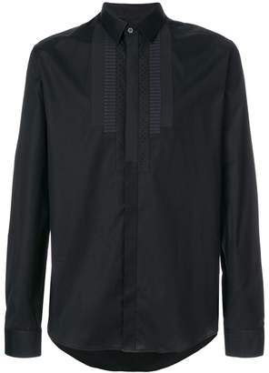 Les Hommes pleat long-sleeve shirt