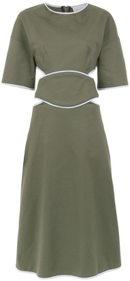 Framed Double layered midi dress
