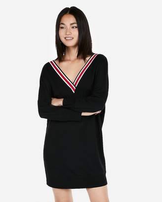 Express Varsity Stripe Sweatshirt Dress