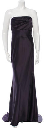 Vera Wang Strapless Satin Dress $145 thestylecure.com