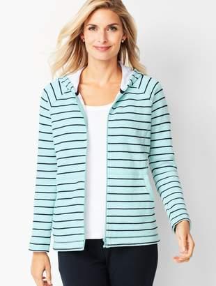 Talbots Stripe Cotton Hoodie