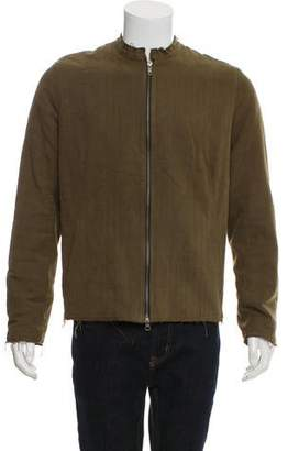 By Walid Padded Linen Bomber