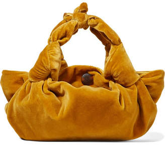 The Row Ascot Small Velvet Tote - Mustard