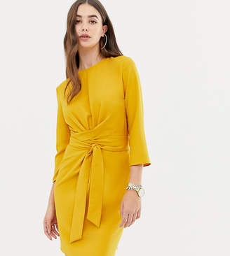 Asos Tall DESIGN Tall tie wrap around mini dress