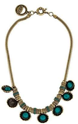 Giles & Brother Shell Cabochon Chain Necklace $145 thestylecure.com