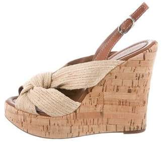 Dolce & Gabbana Jute Wedge Sandals