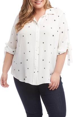 Karen Kane Tie Sleeve Shirt
