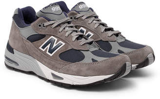 New Balance 991 Suede and Mesh Sneakers