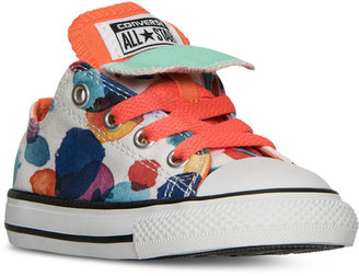 Converse Toddler Girls' Chuck Taylor All Star Double Tongue Casual Sneakers from Finish Line $34.99 thestylecure.com