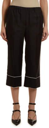 Valentino Pajama Cropped Pants