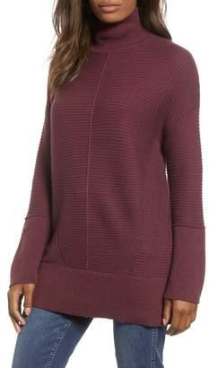 Caslon Ribbed Turtleneck Tunic Sweater (Regular & Petite)