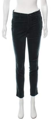 J Brand Velvet Mid-Rise Skinny Jeans Pants