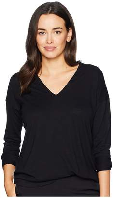 Lilla P Double V-Neck Tunic Women's Long Sleeve Pullover