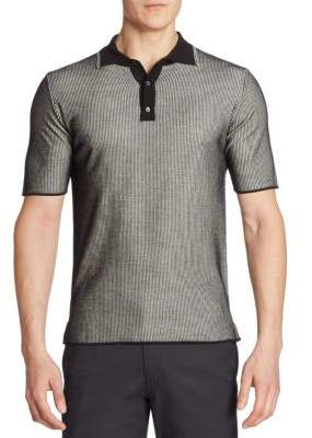 Saks Fifth Avenue COLLECTION Striped Knit Polo