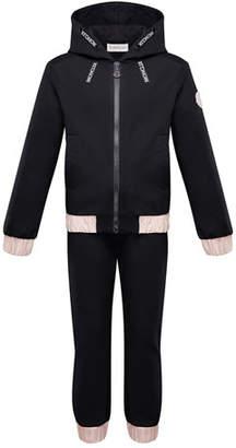 Moncler Contrast-Trim Hoodie w/ Matching Sweatpants, Size 8-14