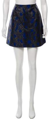 Markus Lupfer Metallic Mini Skirt