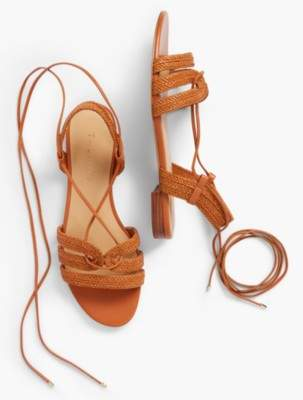 Talbots Keri Braided Lace-Up Sandals