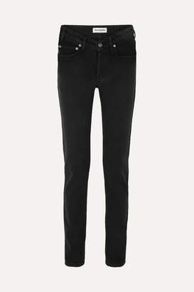 Balenciaga Mid-rise Straight-leg Jeans - Black