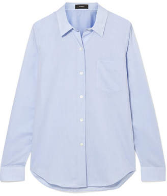 Theory Perfect Cotton Shirt - Blue