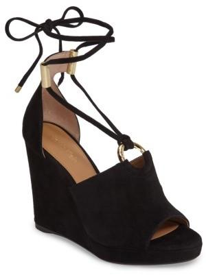 Women's Calvin Klein Ramona Wraparound Wedge Sandal $149.95 thestylecure.com