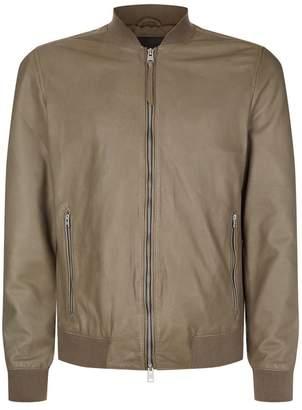 AllSaints Mower Leather Bomber Jacket