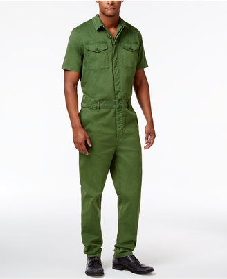GUESS Men's Carter Twill Jumpsuit $148 thestylecure.com