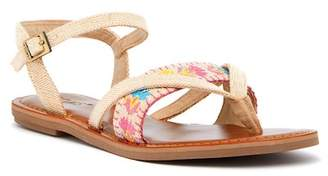 Toms Lexie Embroidered Thong Sandal