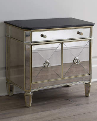 Horchow Amelie Two-Door Mirrored Chest