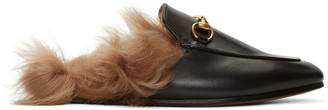 Gucci Black Princetown Slip-On Loafers $995 thestylecure.com