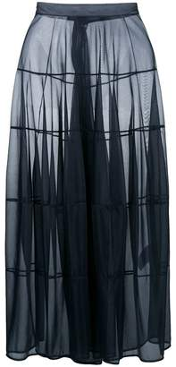 Jil Sander flared sheer maxi skirt
