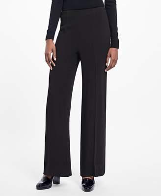 Brooks Brothers Wide-Leg Stretch-Crepe Pants