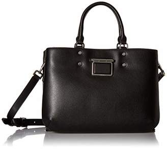 Calvin Klein Dani Hermine Leather Triple Compartment Satchel