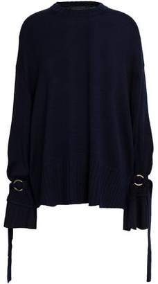 Mother of Pearl Nash Oversized Tie-Detailed Wool-Blend Sweater