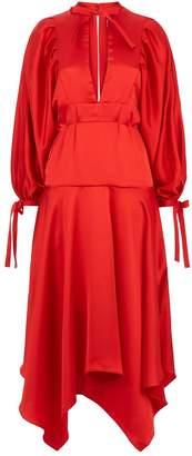 Self-Portrait Satin Midi Dress