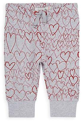 Stella McCartney Infants' Heart-Print Cotton Sweatpants - Gray