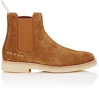 Common Projects Women's Suede Chelsea Boots - Lt. brown