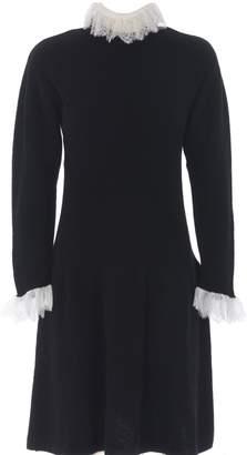 Philosophy di Lorenzo Serafini Lace Trim Knitted Dress