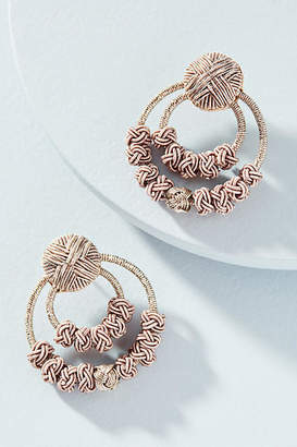 Suzanna Dai Silk Cord Hooped Post Earrings