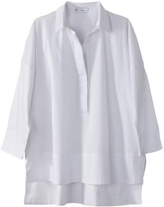 La Redoute Collections Cotton Drop Back Blouse