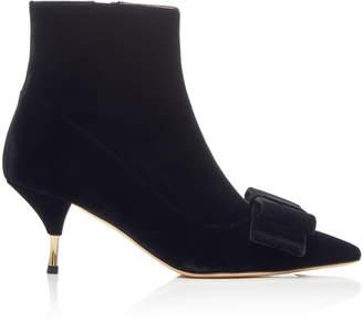 Rochas Velvet Ankle Bow Boot