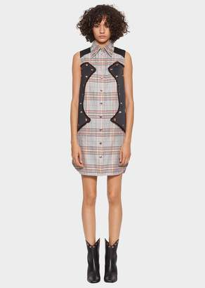 Versace Tartan Tailored Shirt Dress