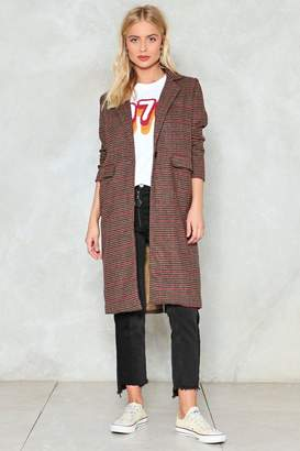 Nasty Gal Checking Us Out Duster Coat