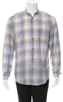 Christian Dior Checkered Button-Up Shirt