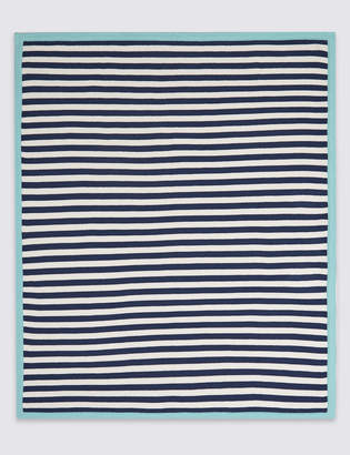 Marks and Spencer Pure Cotton Striped Shawl