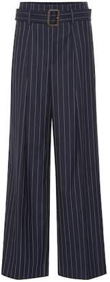 Polo Ralph Lauren Pinstripe wide-leg wool pants