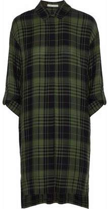 Alice + Olivia Paco Checked Flannel Shirt Dress
